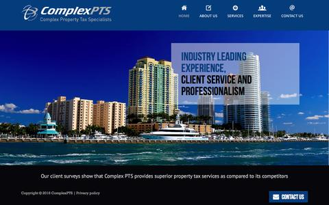 Screenshot of Home Page complexpts.com - Property Tax Specialists and Consultants | Complex PTS - captured Jan. 29, 2016
