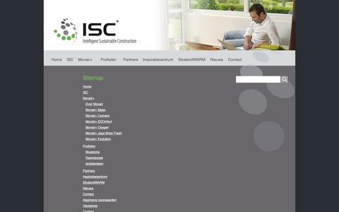 Screenshot of Site Map Page isc-nl.com - Sitemap | isc - captured Oct. 4, 2017