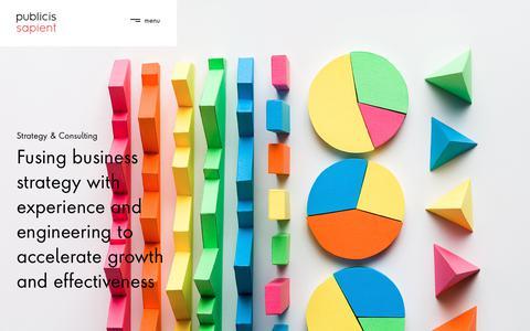 Screenshot of Services Page publicissapient.com - Strategy & Consulting | Publicis Sapient - captured Feb. 28, 2019