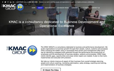 Screenshot of About Page kmacgroup.ca - About Us - KMAC GROUP - captured Nov. 18, 2018