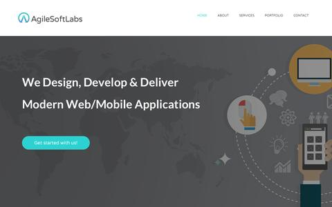 Screenshot of Home Page agilesoftlabs.com - Ruby on Rails Web Development, Mobile Development Company - AgileSoftLabs - captured Dec. 24, 2015