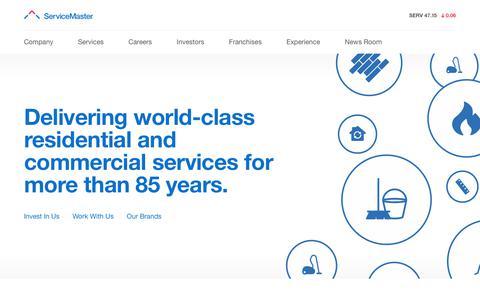 Screenshot of Home Page servicemaster.com - Home | ServiceMaster Company - captured Oct. 14, 2017