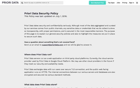 Data Security Policy | PRIORI DATA