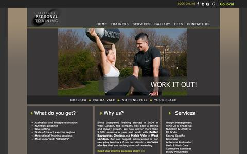 Screenshot of Services Page integrated-training.co.uk - Integrated Personal Training | Our services | Personal Training W2 - captured Sept. 22, 2014