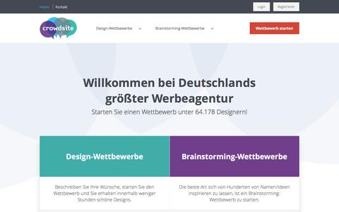 Screenshot of Home Page crowdsite.de - Brauchen Sie ein Logo-Design oder ein anderes Grafikdesign? - captured March 26, 2017