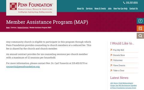 Screenshot of Maps & Directions Page pennfoundation.org - Member Assistance Program (MAP)   Penn Foundation - captured July 16, 2018