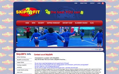 Screenshot of Jobs Page skip2bfit.com - Contact us at skip2bfit - captured March 14, 2016
