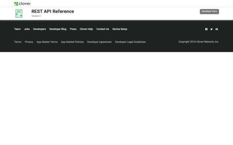 Clover V3 API Documentation