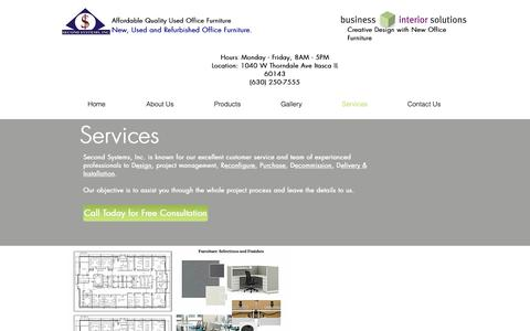 Screenshot of Services Page secondsystems.com - Services/Second Systems, Inc. - captured Oct. 2, 2018