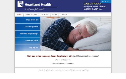 Screenshot of Home Page Privacy Page Terms Page hhtomaha.com - Home | HEARTLANDHEALTH - captured Sept. 28, 2018