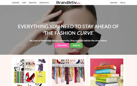Screenshot of Home Page brandiktiv.in - Online Shopping India - Shop socially, latest womens fashion - captured Jan. 26, 2015