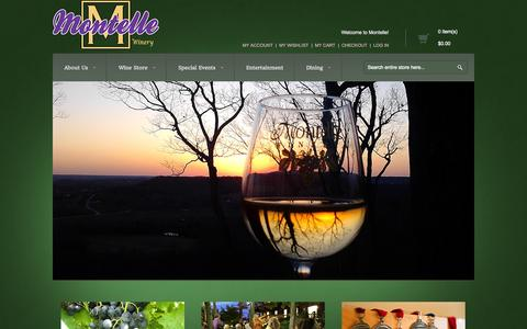 Screenshot of Home Page montelle.com - Montelle Winery - captured Oct. 6, 2014