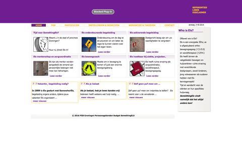 Screenshot of Menu Page somethingels.info - PGB Groningen Persoonsgebonden Budget SomethingELS - Home - captured Aug. 15, 2016