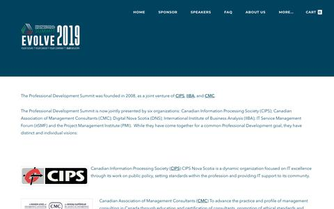 Screenshot of About Page pdsummit.ca - About Us - captured Nov. 22, 2018