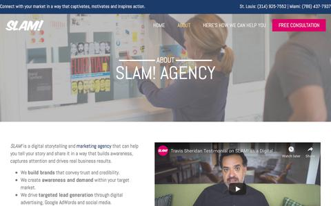 Screenshot of About Page slamagency.com - SLAM! Agency | Marketing and Advertising Agency | Strategy, Digital, Creative - captured Aug. 24, 2019