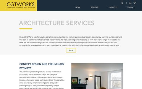 Screenshot of Services Page Developers Page cgtworks.co.uk - CGTWORKS services | Architecture & Construction - captured July 8, 2017