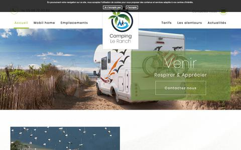 Screenshot of Home Page camping-ranch.fr - Camping Le Ranch - captured Dec. 1, 2018