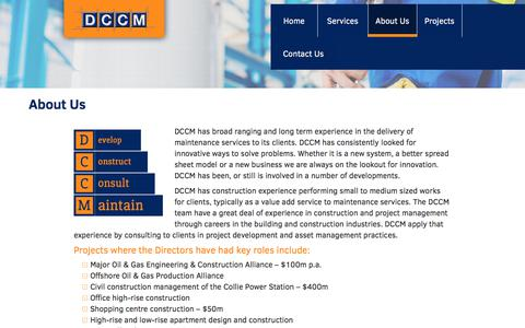 Screenshot of About Page dccm.biz - About Us | DCCM - captured Oct. 11, 2017