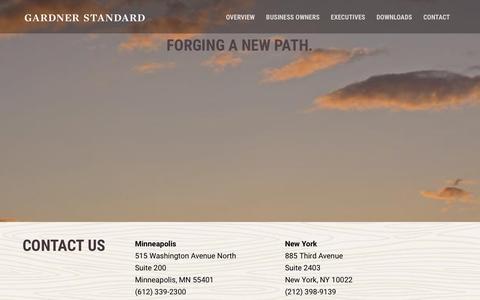 Screenshot of Contact Page gardnerstandard.com - Contact - Gardner Standard - captured Jan. 26, 2016