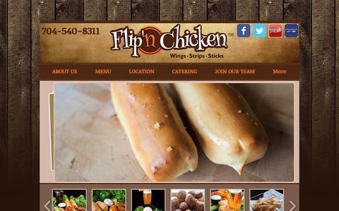 Screenshot of Home Page flipnchicken.com - Flip'n Chicken | Best Wings in Charlotte | Charlotte Restaurants - captured Aug. 13, 2018