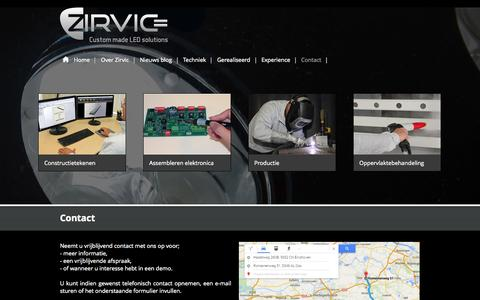 Screenshot of Contact Page zirvic.nl - Contact Zirvic BV Eindhoven | Zirvic | Gevelverlichting - captured Oct. 29, 2014