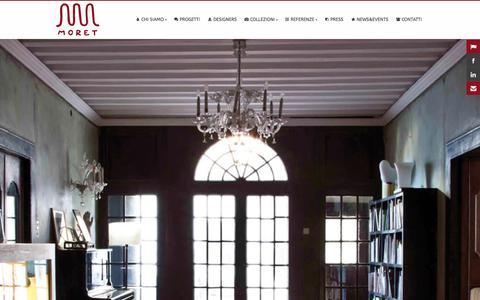 Screenshot of Home Page moret.it - Moret - italian art-design rugs - captured Sept. 30, 2014