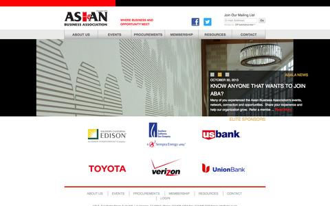 Screenshot of About Page abala.org - About Us   Asian Business Association - captured Oct. 4, 2014
