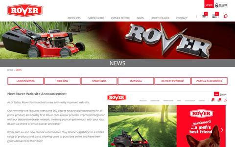 Screenshot of Press Page rover.com.au - News - captured Jan. 28, 2018