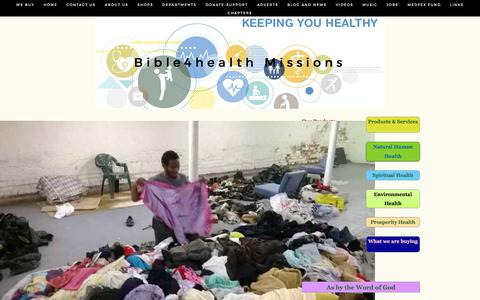 Screenshot of Home Page bible4healthmissions.com - Bible4health Missions - captured June 1, 2017