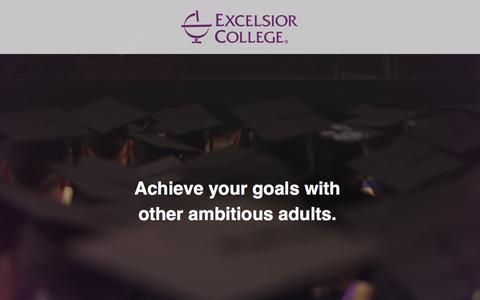Screenshot of Landing Page excelsior.edu - Excelsior College - captured April 5, 2017