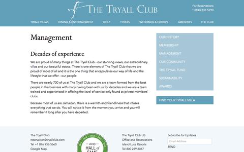 Screenshot of Team Page tryallclub.com - The Tryall Club - Management - captured Jan. 31, 2016