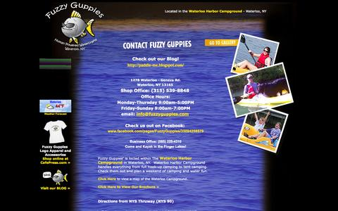Screenshot of Contact Page fuzzyguppies.com - Contact Fuzzy Guppies - captured Oct. 6, 2014