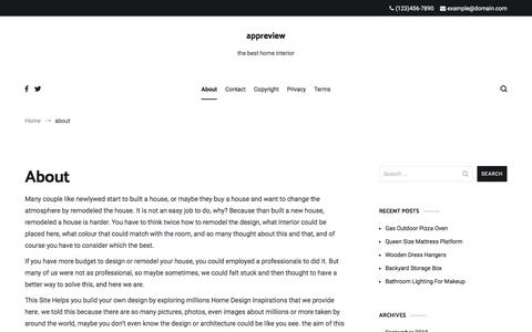 Screenshot of About Page appreview.me - about – appreview - captured Sept. 22, 2018