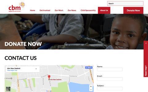 Screenshot of Contact Page cbm-nz.org.nz - Contact cbm NZ | Donation Website NZ | Eye Charity NZ - captured May 5, 2017