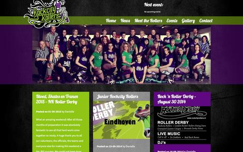 Screenshot of Press Page rockcityrollers.nl - News Archives • Rockcity Rollers Rockcity Rollers - captured Jan. 27, 2016