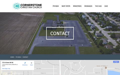 Screenshot of Contact Page onecornerstone.org - Contact – Cornerstone Christian Church - captured Sept. 4, 2017