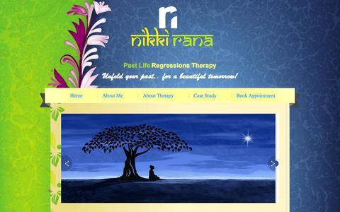 Screenshot of Home Page nikkirana.com - Nikki Rana | Best Hypnotherapist in udaipur - captured Sept. 10, 2015