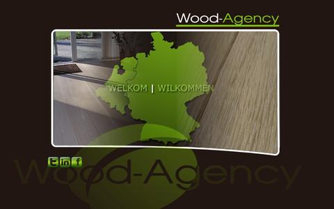 Screenshot of Home Page wood-agency.com - Wilkommen bei Wood-Agency / Welkom bij Wood-Agency / Welcome at Wood-Agency - captured Sept. 30, 2014