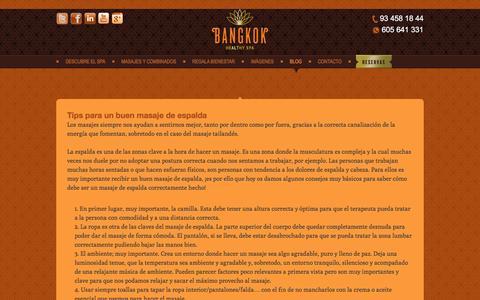 Screenshot of Blog bangkokspa.es - Blog - Bangkok - captured Nov. 22, 2016