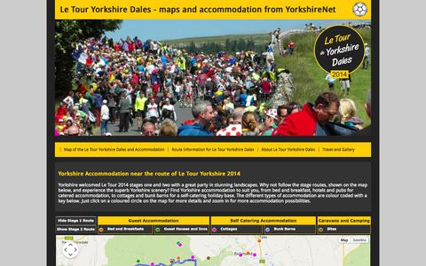 Screenshot of Home Page letouryorkshiredales.com - Tour de France Yorkshire Dales 2014 | Maps and Accommodation - captured Sept. 19, 2014