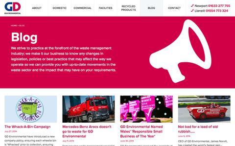 Screenshot of Blog gd-environmental.co.uk - Blog   GD Environmental - captured Oct. 1, 2014