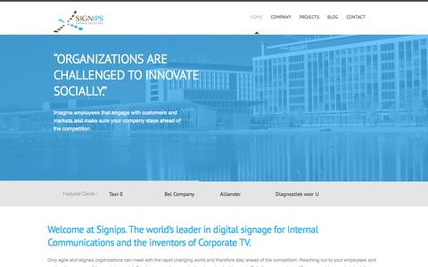 Screenshot of Home Page signips.com - Signips - The goal of communication is to change behavior. - captured Oct. 6, 2014