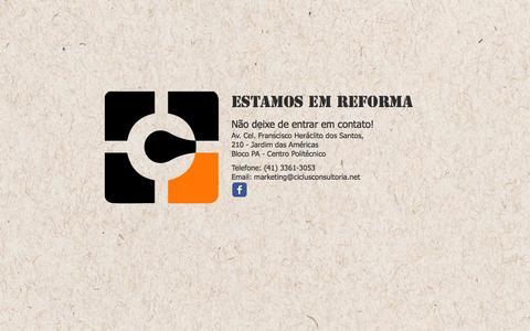 Screenshot of Home Page ciclusconsultoria.net - Ciclus Consultoria | Curitiba - captured Sept. 29, 2014
