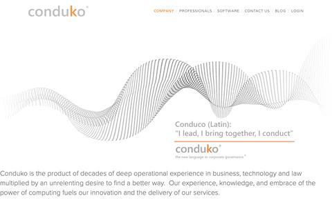 Screenshot of About Page conduko.com - Company — conduko - captured Nov. 18, 2018