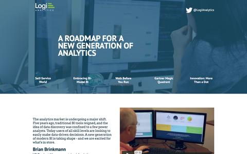 Screenshot of Landing Page logianalytics.com - Roadmap for Modern BI & Analytics | Logi Analytics - captured Oct. 22, 2016
