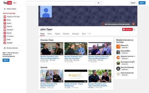 Screenshot of YouTube Page youtube.com - John Tayer  - YouTube - captured Oct. 23, 2014