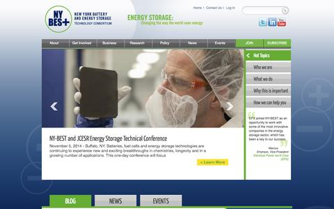 Screenshot of Home Page ny-best.org - NY-BEST | New York Battery & Energy Storage Technology Consortium - captured Oct. 6, 2014