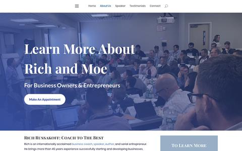 Screenshot of About Page coachtothebest.com - About Us | Coach to The Best - captured July 7, 2019