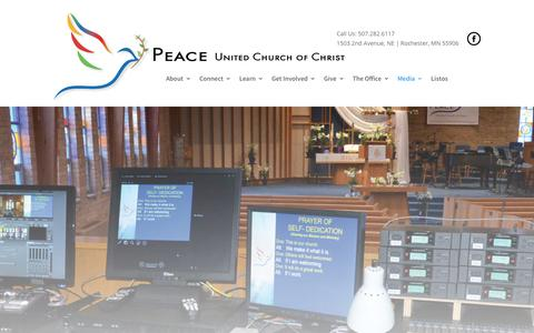 Screenshot of Press Page peacechurchucc.org - Media – Peace United Church of Christ - captured Oct. 28, 2016