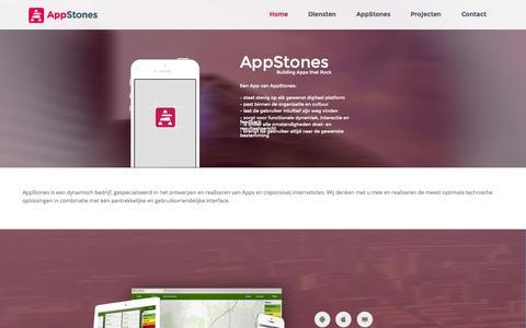Screenshot of Home Page appstones.nl - AppStones Welkom | appstones.nl - captured Sept. 30, 2014